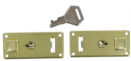 Small Brass Key lock Pair CXLK003
