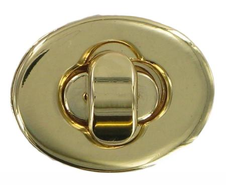 Small Oval Gold Finish Turn Lock for handbags CXTL9