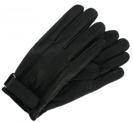 Smooth Calf Leather Riding Glove Black