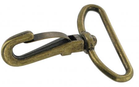 Snap Hook in Antique Brass Finish SSH15