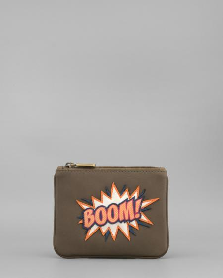 Sonic Boom Leather Coin Purse