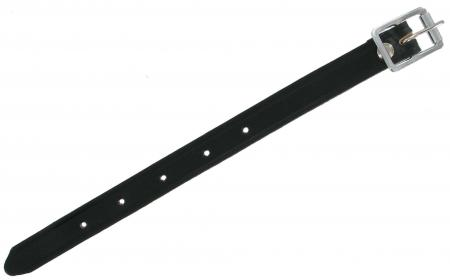 Ten Inch Black Leather Strap BLKSTRP10