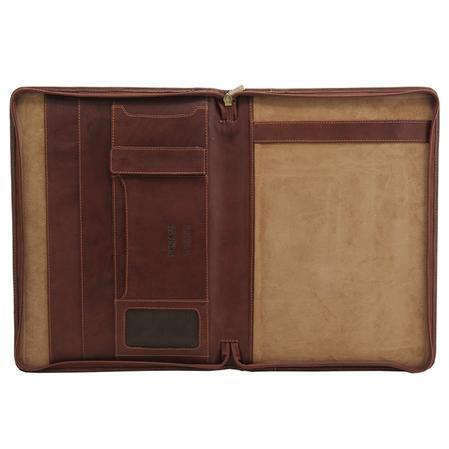 The Lucera A4 Zip Round Conference Folder
