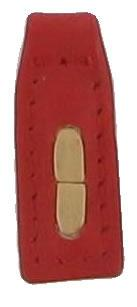 Tiny Thonging Stitched replacement zip tag for Radley handbags Z28B red