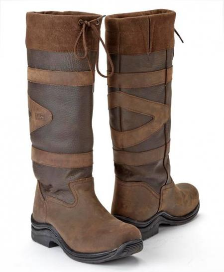 Toggi Canyon Long Riding Boots in brown