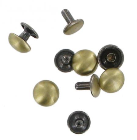 Tubular Domed Rivets Antique Brass Pack Of Five RIV6ANTB