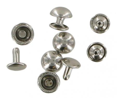 Tubular Domed Rivets Chrome Pack Of Five RIV6CH