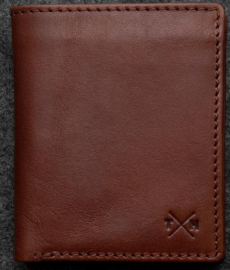 Tudor Abridged Wallet in brown Leather