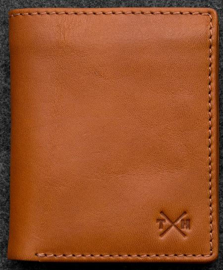 Tudor Abridged Wallet in tan Leather