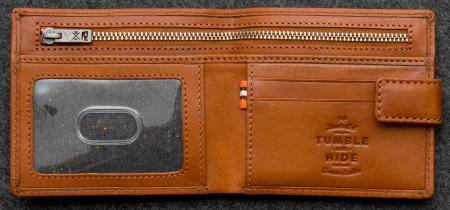 Tudor Classic Wallet in tan Leather
