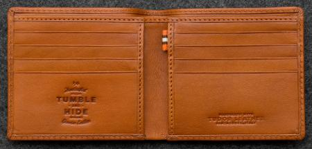 Tudor East West Basal Wallet in tam Leather
