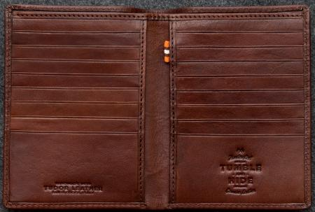 Tudor Jacket Wallet in brown Leather