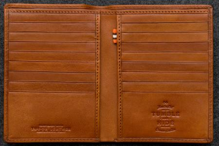 Tudor Jacket Wallet in tan Leather