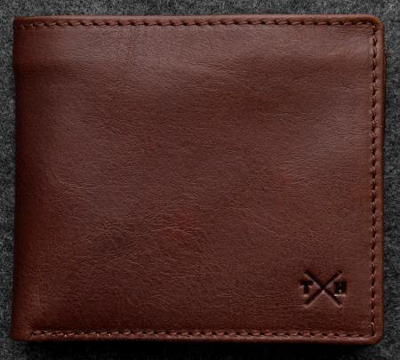 Tudor Legion Wallet in Leather in brown