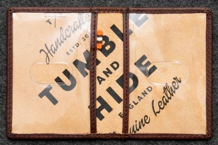 Tudor Travel Pass Holder in Leather TH5307TDR