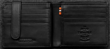 Tudor Ultimate Card Wallet in black Leather