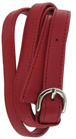 Unfinished Leather Shoulder Strap in Red SUSS4