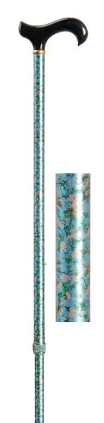 Value Adjustable Walking Stick - Apple Blossom Pattern