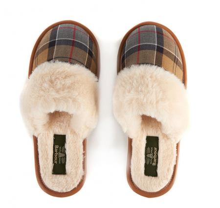Victoria Ladies Mule Slipper by Barbour LFO0202