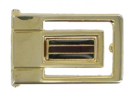 Vintage Clamp-On Brass Effect Buckle for belts 26mm wide CXSB9