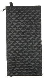 Wallet for Folding Walking Sticks in black quilt