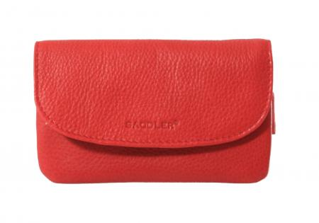 Zipped Key or Coin Purse by Saddler in Chilli Pepper Red